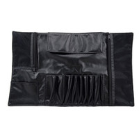 1pcs Makeup Brush Yes Makeup brush bag makeup tool kit storage bag package bag hold 10 brushes portable professional bag for cosmetic free shipping