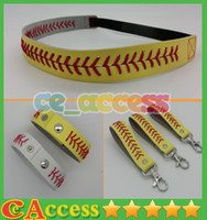 Wholesale DHL Softball accessories softball headbands bracelets and Keychains