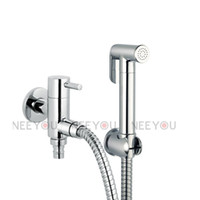 Brass Bidet Sprayer faucet Chrome New BathroomToilet Brass Bidet Sprayer Faucet Set Spray Enhanced pressure Hand Shower Tap hose Wall Bracket Washing machine fitting