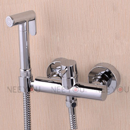Wholesale 2014 NEW Cold and Hot Bathroom Toilet Brass Bidet Sprayer Faucet Set Multifunction Pressurized Spray set Shower mixer T3