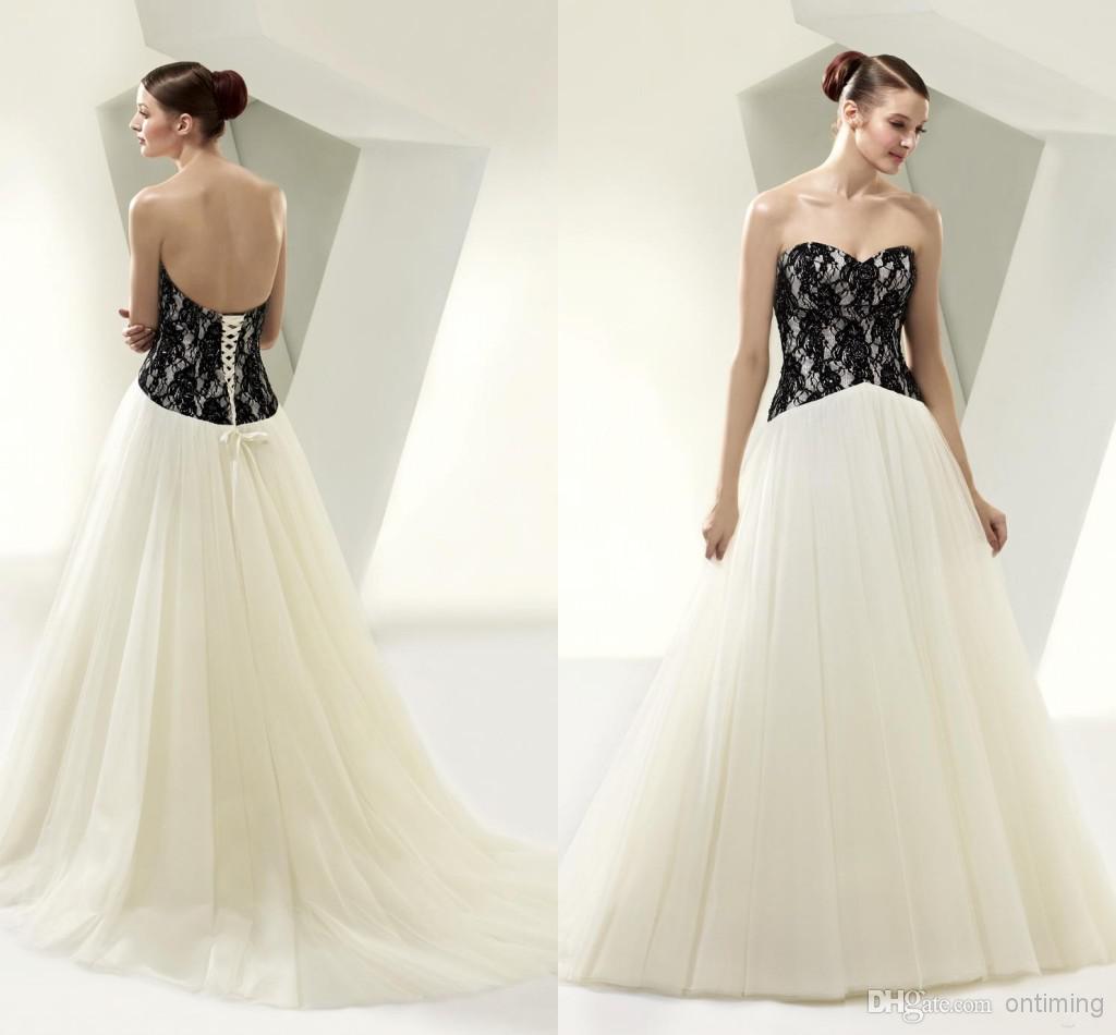 Unique Stylish Wedding Dresses : Discount wm unique stylish wedding dresses a line tulle white and