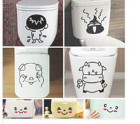 Wholesale 2014 New cheap three generations of removable wall stickers toilet stickers plus smiley stickers