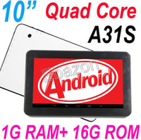 Wholesale Latest quot Inch Allwinner A31s TABLET PC QUAD CORE GB ANDROID BLUETOOTH Dual CAMERA HDMI GB RAM HDMI Port OTG Google Play quot