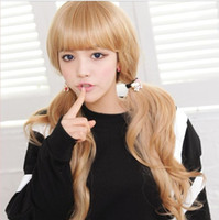 Light Brown Curly 24 Big discount!Hot Sale New Style 24'' Blonde Long Hair Wigs For Women Girls Wave Wigs Cheap Wig,Free Shipping 2 color
