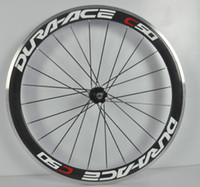 Road Bikes Carbon 700cc roak bike wheelset DURA ACE C50 50mm with NOVATEC 271 hubs with Aluminum for v brake support 9 10 11 speed clincher or tubular wheels