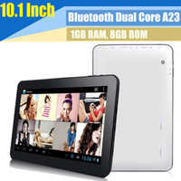 Wholesale Dual Core inch A23 A20 Android Bluetooth Tablet PC GB GB Allwinner Wifi Dual camera Skype Youtube Support Brand new