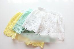 Wholesale 2014 Summer Children Girls Korean Style Hollow Lace Skirts Jointed Short Bottom Legging Pretty Child Lovely Floral Pantskirts I0951