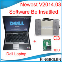 Wholesale 2014 Newest software installed on Dell D630 Laptop MB Star C3 for benz Professional auto diagnostic tool diagnosis multiplexer