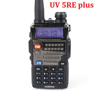 Wholesale BAOFENG UV RE Plus CH dual band cheap walkie talkie mha battery FM VOX Dual Display UV5RE Plus Walkie Talkie from coolcity2012