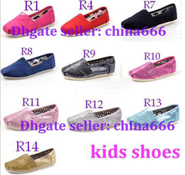 Wholesale 2014 NEW colors Children s or girl s kind s Classic comfortable canvas shoes EVA casual glitter Flat shoes shoe pairs