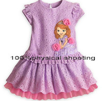 Wholesale 8 off on sale Princess Sophia short sleeved dress In the summer Lace Lovely and sweet hot sale DROP SHIPPING frozen elsa Anna DM