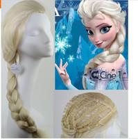 Wholesale 24 quot Frozen elsa wig princess anna wig korean heat resistant synthetic wig cosplay Animation wig color