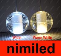 glass dining room - Bocci Heads Meteor Rain Meteoric Shower LED Light Crystal Glass Ball Chandelier Pendant Lamp Light Droplight Stair Lighting