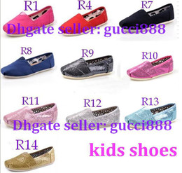 Wholesale 2014 NEW Children s or girl s and boy s Classic comfortable canvas shoes EVA casual glitter Flat shoes shoe pairs