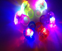 Wholesale Cool Led Light Up Flashing Bubble Ring Rave Party Blinking Soft Jelly Glow for Party