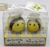wedding souvenirs - Wedding Favor Ceramic Bee Shape Salt and Pepper Shakers for Souvenirs Baby Shower Wedding Gifts sets