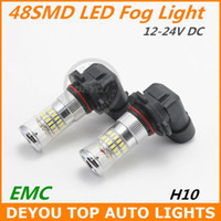 Wholesale New H10 SMD LED Fog Light Bulb Xenon White V V DC year warranty