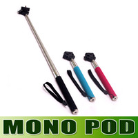 Wholesale New in May Portable Handheld Self Timer Monopod for Camera amp Phone Telescopic Extendible Selfprotrait Stand Holder for Iphone Samsung