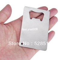 Wholesale 20pcs Polybag Packing Wallet Size Stainless Steel Credit Card Bottle Opener