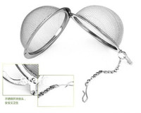 tea ball strainer - Tea Infuser Stainless Steel Tea Pot Infuser Sphere Mesh Tea Strainer Ball Good Quality cm
