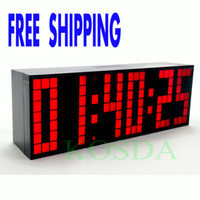 Wholesale Remote Control Countdown Timer Colorful Led Alarm Clock Big Font Digital Snooze Clock Classical Design Durable Stopwatch