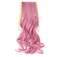 Wholesale 10pcs Woman Wrap Around Ponytail Wavy Curly Hair Clip Extensions Hairpiece Extension fx231