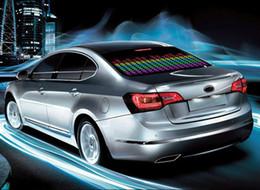 Wholesale Swiss Post Auto car music rhythm LED sound control Equalizer Flashing lamp light EL Sheet sticker