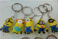 Wholesale 3D Despicable Me Minion Action Figure Keychain Keyring Key Ring Cute Gifts