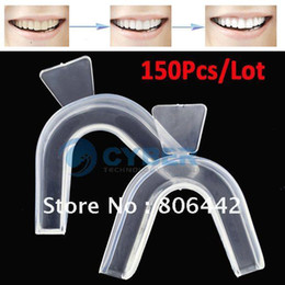 Wholesale Whoelsale Thermoplastic Mouth Tray Teeth Whitening Boil and Bite Mouth Tray Hot Sell