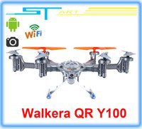 Wholesale Walkera QR Y100 FPV Wifi Aircraft UFO RC Quadcopter Drone helicopter with camera brushless motor VS dji phantom