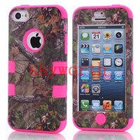 Wholesale Real Tree Camo Serie Case For iphone S S C Samsung Galaxy S4 S3 Waterproof Cell Phone Case Hybrid Silicone Skin With Plastic Shell