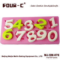 Wholesale Number Silicone Chocolate Mold SM Fondant Molds Chocolate Decorating Tools Silicone cake Molds