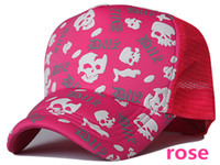 Wholesale Skull graffiti truck cap Mesh hat Fashionable hats Snapbacks caps hat circumference cm color