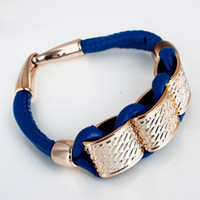 Charm Bracelets cheap gifts for women - Bracelets amp Bangles Cheap Fashion Gift Gold Alloy Chain Charm leather Bracelet For Women Bangles Men Jewelry
