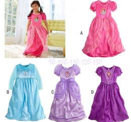 Wholesale Frozen Princess Elsa Nightgown for Girls Sleep Dress Frozen Nightgown Elsa Princess Frozen Long Dress Long Sleeve Sleepwear C14