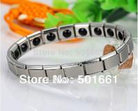 Wholesale man bracelet Stainless steel women s Bracelets amp bangles Germanium Power italian style for women and men jewelry