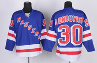 Wholesale Rangers Henrik Lundqvist Premier Players Jersey Royal Blue Hockey Jerseys Playoffs Mens Hockey Jerseys High Quality Team Uniforms
