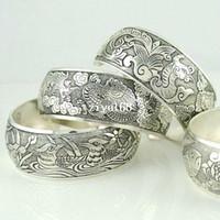 al por mayor pulseras tibetanas-6pcs/lot por mayor elegante tibetano estampado plata brazalete brazaletes Retro brazaletes envío gratis + envío de la gota