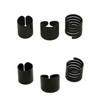 Cluster Rings Bohemian Men's Black Punk Finger Knuckle Rings Set Midi Ring Costume Jewelry Rings(3pieces in one set) free shipping