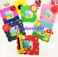 Wood   Cute Baby Photo Frames Wooden Cartoon Picture Frames Wedding Favor Baby Shower Gifts