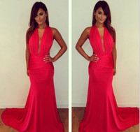 2014 red mermaid Evening Dresses sexy Vestidos Inspired by M...
