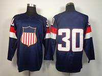 Cheap 2014 Olympic USA Ice Hockey Jerseys United States #30 Miller Sportswear Blue Color SZ:48-56 able mix any size