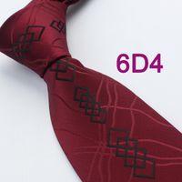 Wholesale BRAND NEW COACHELLA ties Men s ties Burgundy red Paisley With Black Diamond Geometric Gravata Necktie Formal Neck Tie for men dress shirts