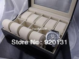 Wholesale 2pcs Luxury Watch Box Hard paper Position boxes Ten Pillows Black button open Transparent surface box NY0201