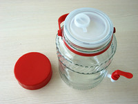beverage dispenser - high quality L glass beverage dispenser jar with tap