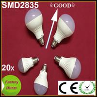 Wholesale 20pcs High Power LED Globe Bulb E27 B22 AC220V V V W W W W SMD2835 LED Bubble Ball Lamp LED Light Spotlight Downlight
