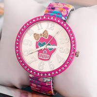 Wholesale DHL Fashion Watches with Skull face Student Cartoon Women Rhinestone Watches