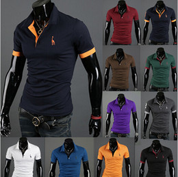 Wholesale new new explosion models selling short sleeved T shirt POLO Men short sleeve T shirts embroidered deer