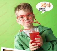 Wholesale Hot Sale New Strange New Interesting Drinking Straws Lover Madness Funny Glasses Pipette Children s Toys