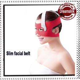Wholesale 2014 New slim mask belt red D Sleep Slim Oval Face Shape Protector Machine Band Slim Face Correction Belt